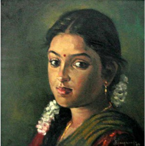 Paintings of rural indian women - Oil painting (17)